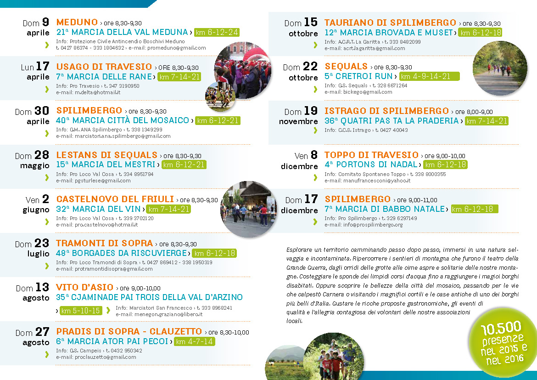Calendario Marce Fiasp Fvg 2021 Marce FIASP nelle Valli Spilimberghesi   consorzio Arcometa
